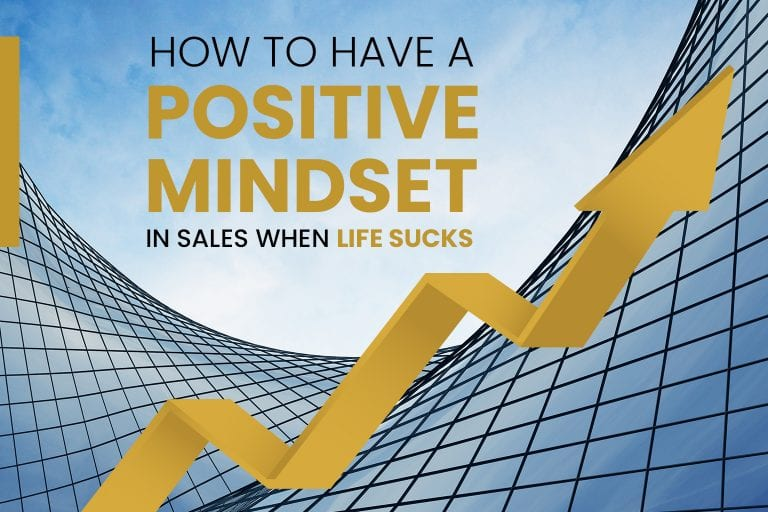 An arrow going straight to the top of the building how to have a positive mindset in sales when life sucks