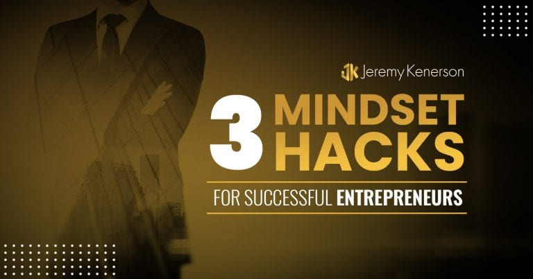 Shadow of a businessman with arms crossed thinking about the 3 Mindset Hacks for Successful Entrepreneurs.
