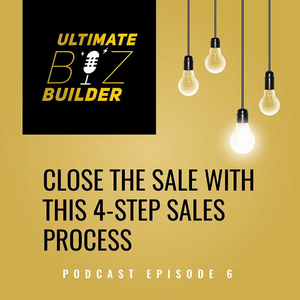 Tall buildings downtown in the middle Close the Sale with this 4 Step Sales Process