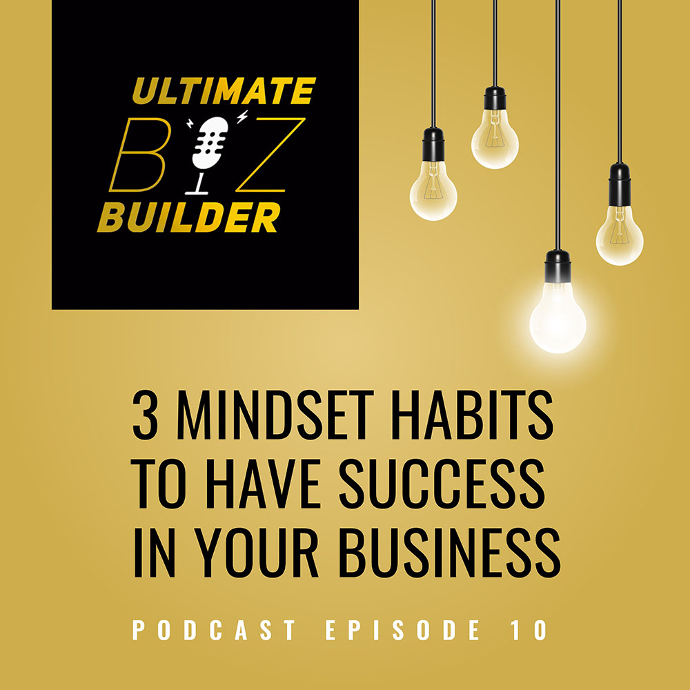 Man's hand holding a geometric shape with 3 Mindset Habits to Have Success in Your Business